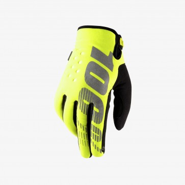 100% BRISKER Cold Weather Glove - Neon Yellow