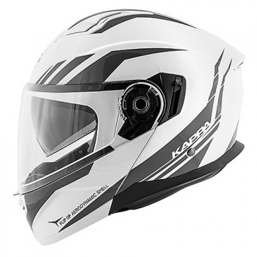Modular Motorcycle Helmet Kappa KV-31 ARIZONA Phantom Glossy White