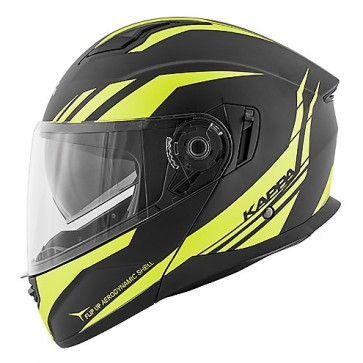 Modular Motorcycle Helmet Kappa KV-31 ARIZONA Phantom Black Matt Yellow