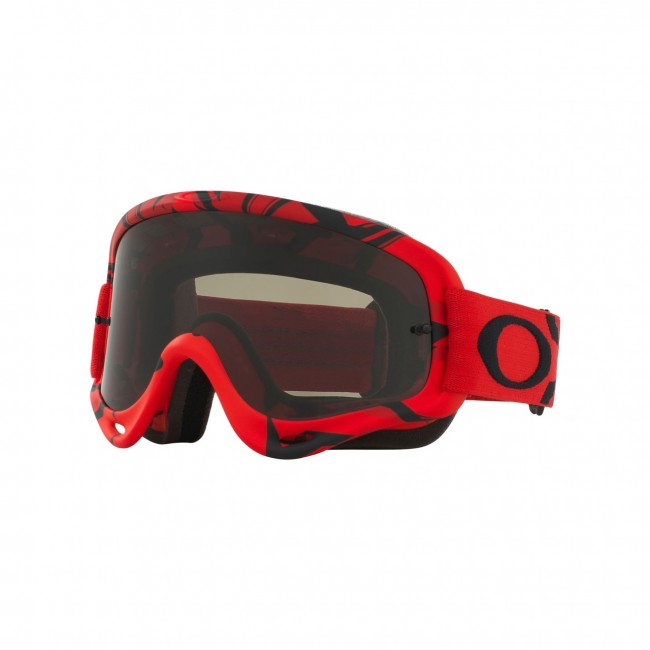 13f0e467a8 Oakley 2018 O Frame MX Goggle Adult (Intimdator Red Black) Dark Grey Lens