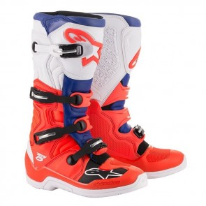 ALPINESTARS TECH 5 BOOT RED FLUO/BLUE/WHITE