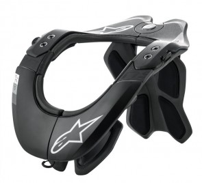 ( ADULT ) ALPINESTARS BIONIC NECK SUPPORT TECH 2 BLACK/COOL GREY