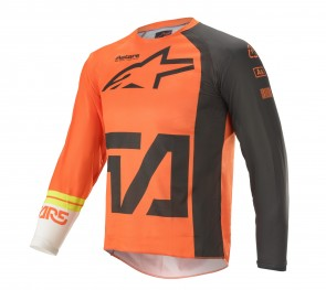 2021 YOUTH RACER COMPASS JERSEY ORANGE/ANTHRACITE/WHITE