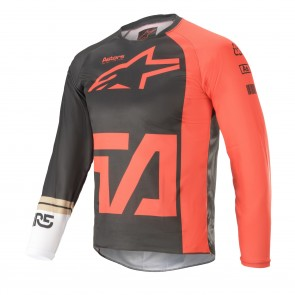 2021 YOUTH RACER COMPASS JERSEY ANTHRACITE/RED/WHITE