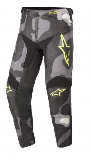 2021 YOUTH RACER TACTICAL PANT GREY/CAMO/YELLOW