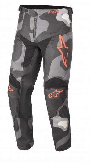 2021 YOUTH RACER TACTICAL PANT GREY/CAMO/RED