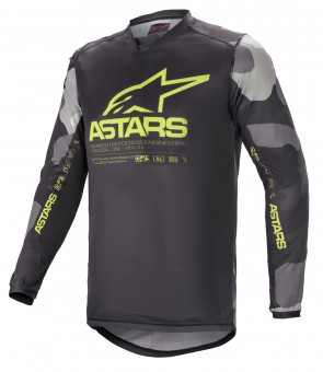 2021 RACER TACTICAL JERSEY GREY CAMO/YELLOW