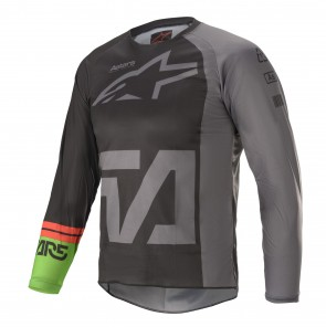 2021 YOUTH RACER COMPASS JERSEY BLACK/GREY/GREEN
