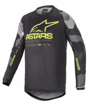 2021 YOUTH RACER TACTICAL JERSEY GREY CAMO/YELLOW
